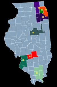 Local LP Chapters in Illinois as of 2013